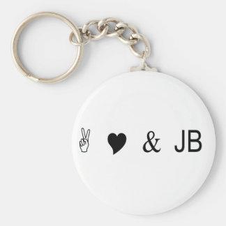peace love and jb keychain