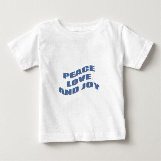 Peace Love and Joy Baby T-Shirt