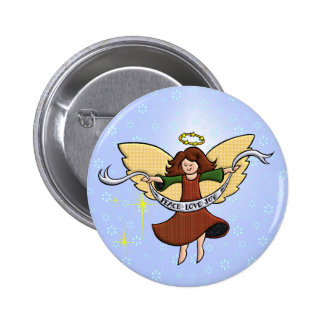 Peace, Love and Joy Button
