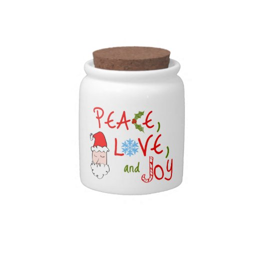 Peace, Love, and Joy Candy Dish