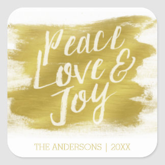 Peace Love and Joy Christmas Stickers