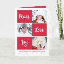 Peace Love and Joy | Custom Photo Holiday