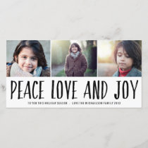 Peace Love and Joy Holiday Photo Card