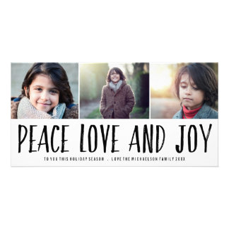 Peace Love and Joy Holiday Photo Card