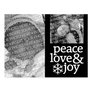 Peace, Love and Joy - Holiday Photo Postcard
