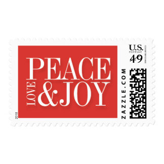 Peace Love and Joy Holiday Stamps