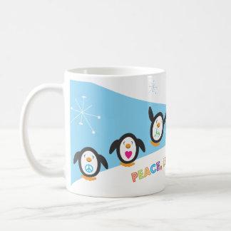 Peace, Love and Joy Penguin Holiday Mug