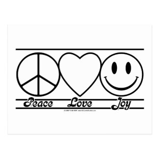 Peace Love and Joy Post Card