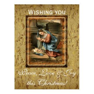 Peace, Love and Joy this Christmas Postcard