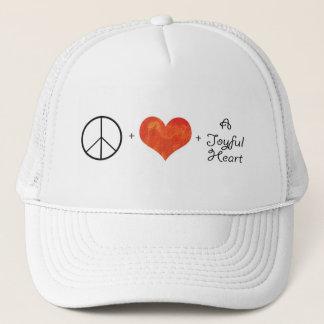 Peace Love and Joyful Heart hat