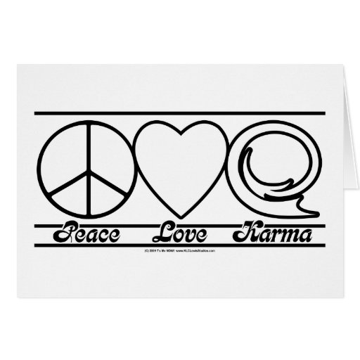 Peace Love and Karma Cards