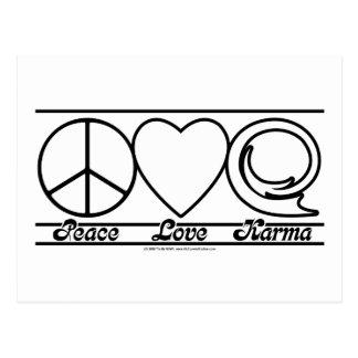 Peace Love and Karma Postcard