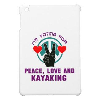 Peace Love And Kayaking. iPad Mini Cover