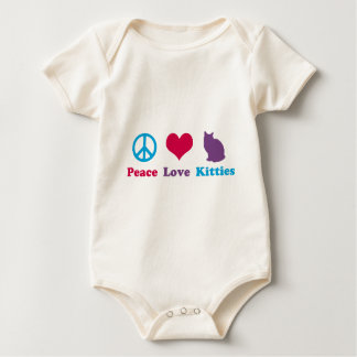 Peace, Love and Kitties Baby Bodysuit