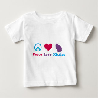 Peace, Love and Kitties Baby T-Shirt