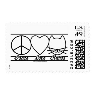 Peace Love and Kitties Postage