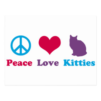 Peace, Love and Kitties Postcard