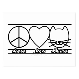 Peace Love and Kitties Postcard