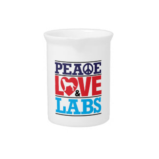 Peace Love and Labs Drink Pitchers