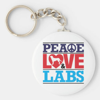 Peace Love and Labs Keychain
