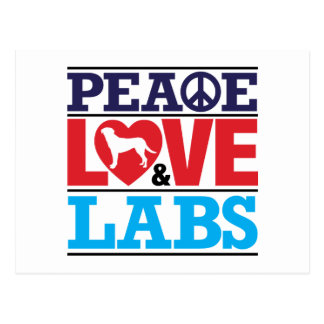 Peace Love and Labs Postcard