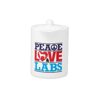 Peace Love and Labs Teapot