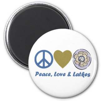 Peace, Love and Latkes Hanukkah Tees and Gifts 2 Inch Round Magnet