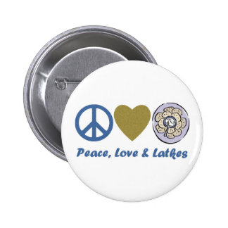 Peace, Love and Latkes Hanukkah Tees and Gifts Button