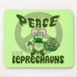 Peace Love and Leprechauns Mousepads