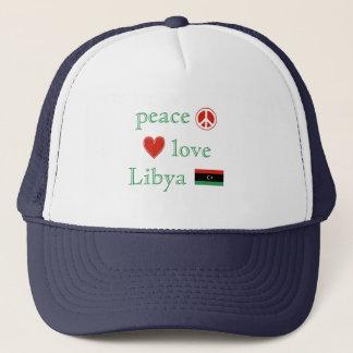 Peace Love and Libya Trucker Hat
