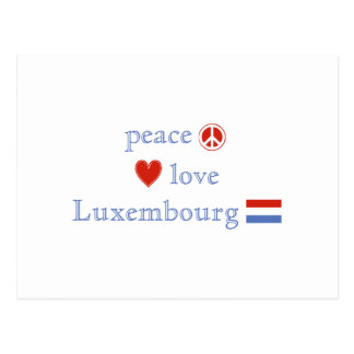 Peace Love and Luxembourg Postcard