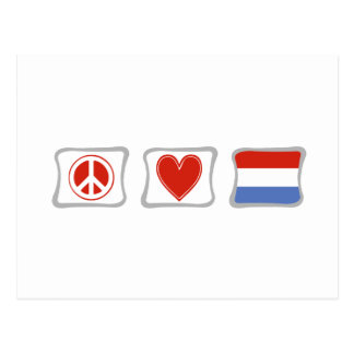 Peace Love and Luxembourg Squares Postcard