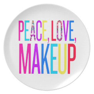Peace, Love and Makeup Plate