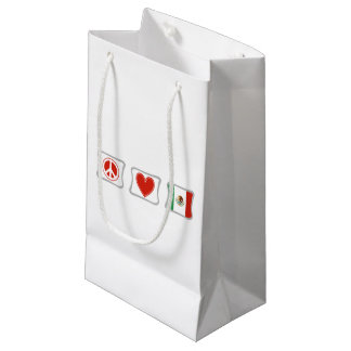 Peace Love and Mexico Squares Small Gift Bag