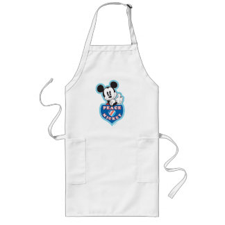 Peace Love and Mickey Long Apron