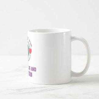Peace Love And Modern Pentathlon. Basic White Mug