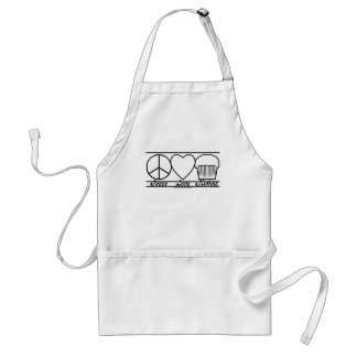 Peace Love and Muffins Adult Apron