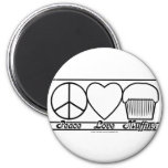 Peace Love and Muffins Refrigerator Magnet