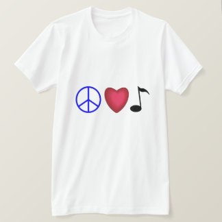 Peace Love and Musci T-Shirt