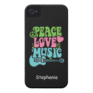 Peace, Love and Music iPhone 4 Case-Mate Cases