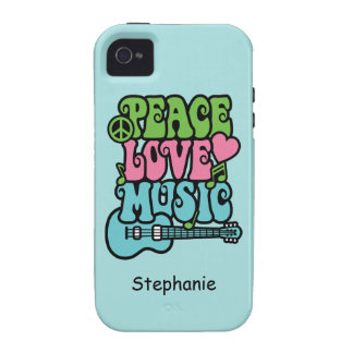 Peace, Love and Music Vibe iPhone 4 Cover