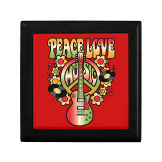 Peace Love and Music Keepsake Box