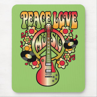 Peace Love and Music Mouse Pad