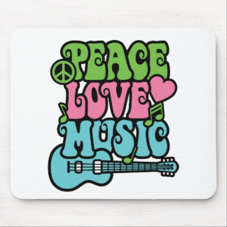 Peace, Love and Music Mouse Pad