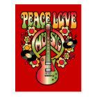 Peace Love and Music Postcard