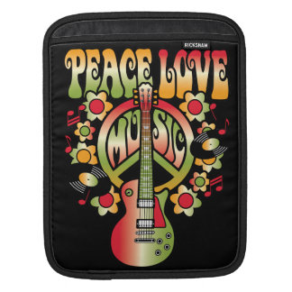 Peace Love and Music Sleeve For iPads