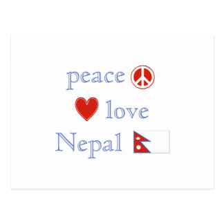 Peace Love and Nepal Postcard