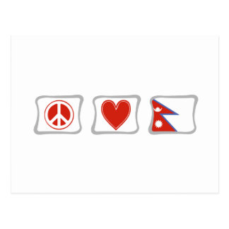 Peace Love and Nepal Squares Postcard