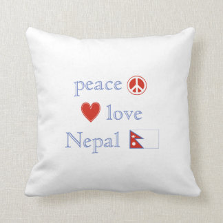 Peace Love and Nepal Throw Pillow