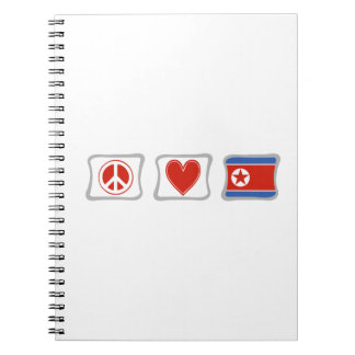 Peace Love and North Korea Squares Notebook